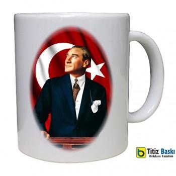 Atatürk Baskılı Kupa Bardak