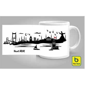 İstanbul Silüeti Kupa Bardak