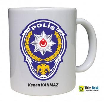 Kişiye Özel Polis Kupa Bardak