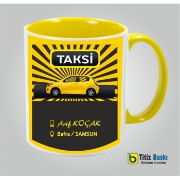 Sarı Kulplu Taksi Kupa Bardak