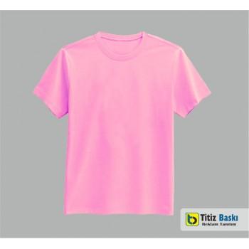Pembe Bisiklet Yaka T-shirt