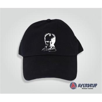Atatürk Baskılı Siyah Şapka