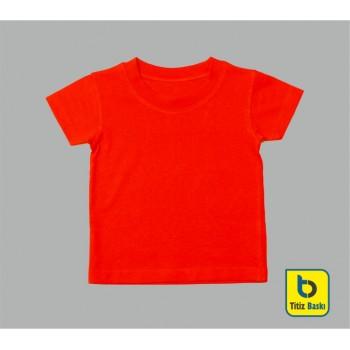 Kırmızı Çocuk Tişörtu