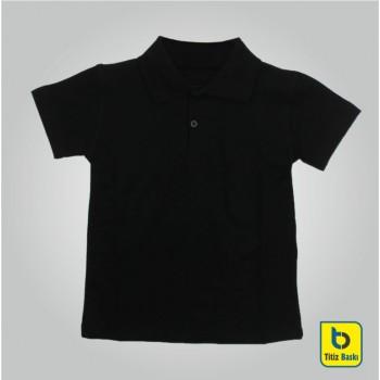 Siyah Lacoste Çocuk Tişörtu