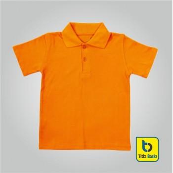 Turuncu Lacoste Çocuk Tişörtu