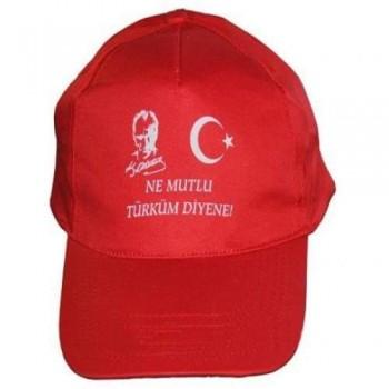 Atatürk ve Türk Bayrak Baskılı Şapka
